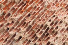 Tilted Brick wall background Stock Photo