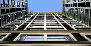 Tilted building feature Royalty Free Stock Photos