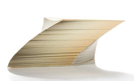 Tilted cards stack Royalty Free Stock Photography