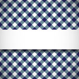 Tilted gingham plaid pattern Stock Photography