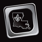 Tilted halftone web icon with louisiana state icon Stock Photos