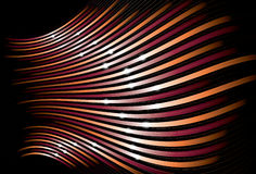 Tilted perspective wavy bulging line background. Sparkles, top thin lines, main lines, bottom lines and background are on separate layers. Lines are cropped to royalty free illustration