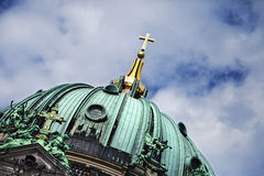 Berliner Dom Dome & Cloudy Sky Royalty Free Stock Images