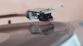 Tilted view turntable play stock footage