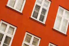 Tilted windows. Windows of a colorful building Royalty Free Stock Image