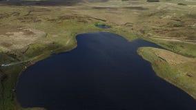 Tilting aerial drone of natural Irish peninsula stock video