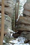 Tilting boulders Stock Photos