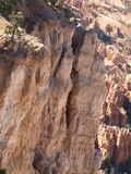 Tilting. On the edge of Bryce Canyon, Utah, looking past a canyon wall to the hoodoos below Royalty Free Stock Photos