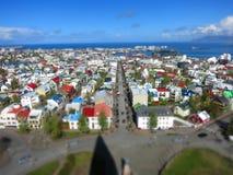 Tiltshift from Reykjavik Stock Images