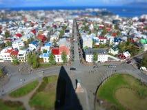 Tiltshift from Reykjavik Royalty Free Stock Photography