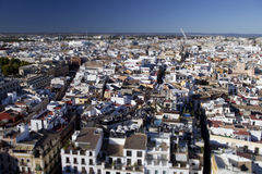 Tiltshift view on Seville Royalty Free Stock Photography