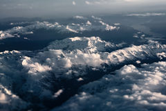 Tiltshifted Alps - Aerial View Royalty Free Stock Photo
