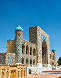 Tilya-Kori Madrasah on Registan Square in Samarkand, Uzbekistan Royalty Free Stock Photography