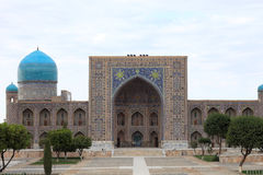 Tilya-Kori Madrasah in Samarkand Royalty Free Stock Image