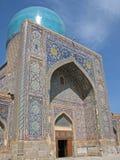 Tilya-Kori madrasah in Samarkand Royalty Free Stock Images