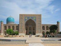 Tilya-Kori madrasah in Samarkand Royalty Free Stock Image