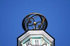Timón de la torre de Cunstcamera Imagen de archivo libre de regalías