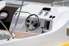 Timón del barco de la velocidad Imagenes de archivo