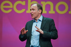 Tim Berners-Lee delivers address to IBM Lotusphere Stock Photography