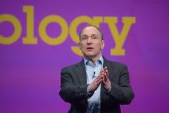 Tim Berners-Lee entrega direccionamiento a IBM Lotusphere imagen de archivo libre de regalías