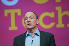 Tim Berners-Lee entrega o endereço a IBM Lotusphere Imagens de Stock