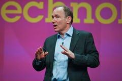 Tim Berners-Lee entrega o endereço a IBM Lotusphere Fotografia de Stock