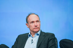 Tim Berners-Lee trasporta l'indirizzo all'IBM Lotusphere Fotografia Stock