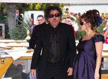 Tim burton. American art director tim burton with his wife Helena Bonham Carter Stock Photo