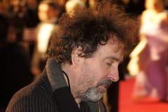 Tim Burton em Discurso Premier do rei fotos de stock royalty free