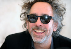Tim Burton. Famous American film director Tim Burton during press conference in Prague, Czech republic, March 27, 2014 Royalty Free Stock Photos