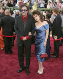Tim Burton,Helena Bonham-Carter Royalty Free Stock Photos