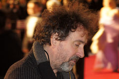 Tim Burton At The King's Speech Premiere. LONDON - October 21: Tim Burton At The King's Speech Premiere October 21, 2010 in Leicester Square London, England Royalty Free Stock Photos
