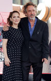 Tim Burton and Winona Ryder Royalty Free Stock Photography
