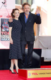 Tim Burton and Winona Ryder Royalty Free Stock Photos