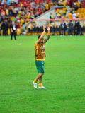 Tim Cahill Thanking The Crowd Stockfotografie