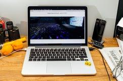 Tim Cook Apple CEO στο κράτος στους υπεύθυνους για την ανάπτυξη διασκέψεων WWDC 2017 Στοκ Φωτογραφία