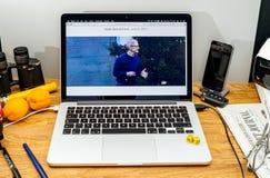 Tim Cook Apple CEO στο κράτος στους υπεύθυνους για την ανάπτυξη διασκέψεων WWDC 2017 Στοκ φωτογραφία με δικαίωμα ελεύθερης χρήσης