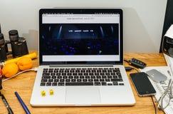 Tim Cook Apple CEO στο κράτος στους υπεύθυνους για την ανάπτυξη διασκέψεων WWDC 2017 Στοκ εικόνα με δικαίωμα ελεύθερης χρήσης