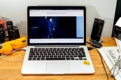 Tim Cook Apple vd på tillstånd på konferensbärare för WWDC 2017 Fotografering för Bildbyråer