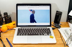 Tim Cook Apple vd på tillstånd på konferensbärare för WWDC 2017 Royaltyfri Bild