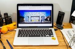 Tim Cook Apple vd på tillstånd på konferensbärare för WWDC 2017 Royaltyfri Foto