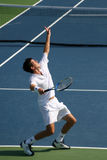 Tim Henman Tennis Serve Royalty Free Stock Photography