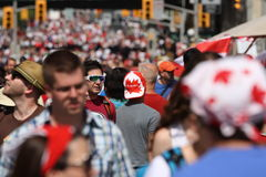 Tim Hortons Cap on Canada Day Royalty Free Stock Photo