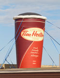 Tim Hortons Coffee Cup Display Fotos de archivo