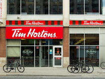 Tim Hortons Coffee Shop stock afbeelding