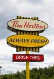 Tim Hortons Sign Stock Image