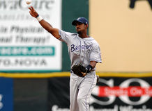 Tim Johnson throws the baseball Royalty Free Stock Photo