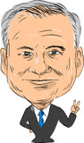 Tim Kaine Vice President 2016. Caricature illustration of Timothy Michael Tim Kaine, American attorney, politician, senator and United States Democrat vice Royalty Free Stock Photography