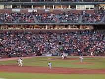 Tim Lincecum sets to bunt, Cody Ross takes lead Royalty Free Stock Image