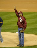 Tim McGraw. Country singer Tim McGraw, son of Philadelphia Phillies legend Tug McGraw waves before throwing out the first pitch in 2008 World Series Stock Images